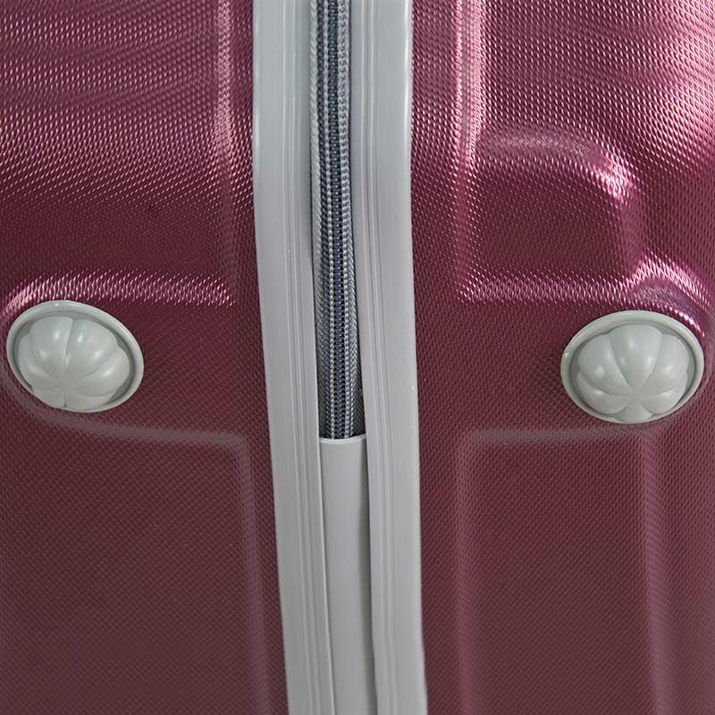 6ed389f197e9d ... Walizki kabinowe ABS z rączką komplet wiśniowe 20/24/28 UC03001-01 ...