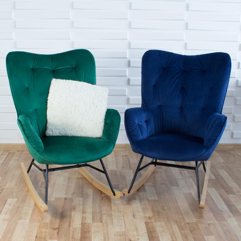 fotel bujany na płozach nowoczesny retor