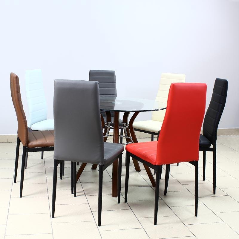 Krzesło Skórzane Na Metalowych Nogach 704b Bb Czarny Hile