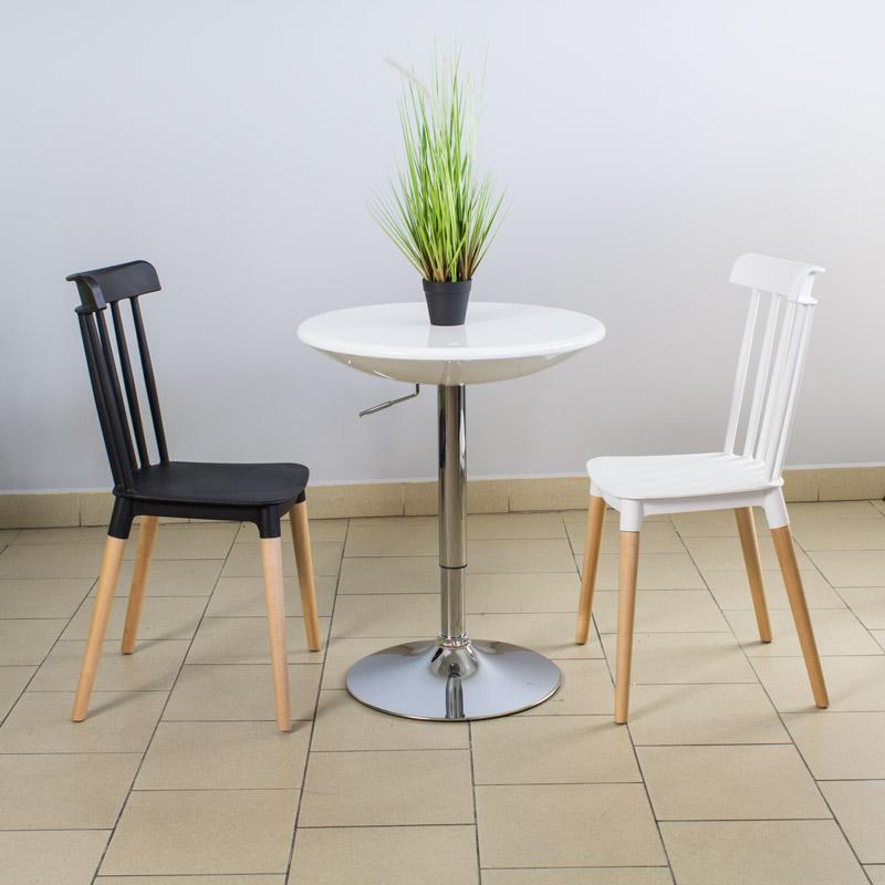 Klasyczne Krzesło Retro 057 Czarny Hile