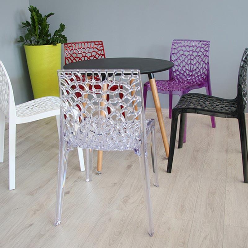 Krzesło Ogrodowe Nowoczesne 261 Biały Hile