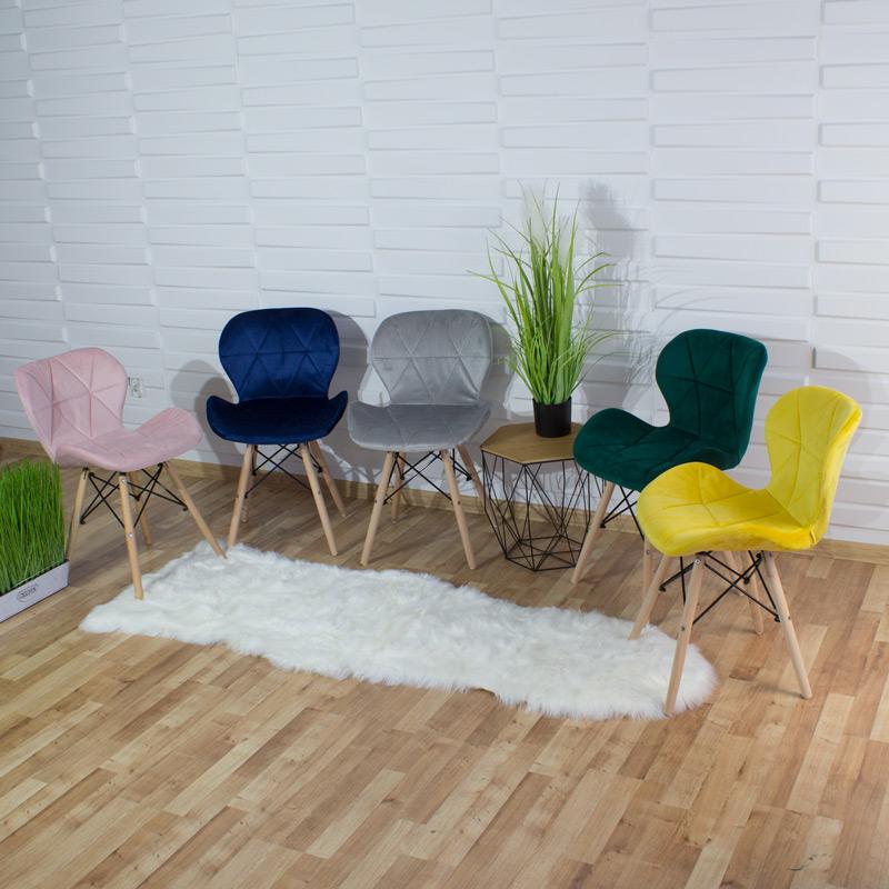 krzesło welur ekoskóra 024 bw