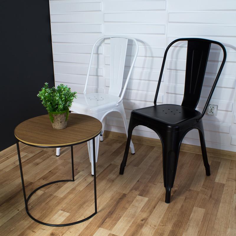 krzesło metalowe tolix do restauracji