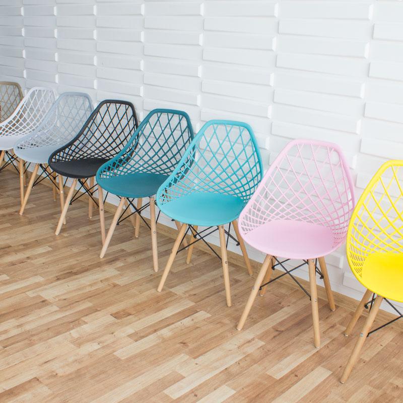 krzesło skandynawskie nowoczesne na bukowych nogach