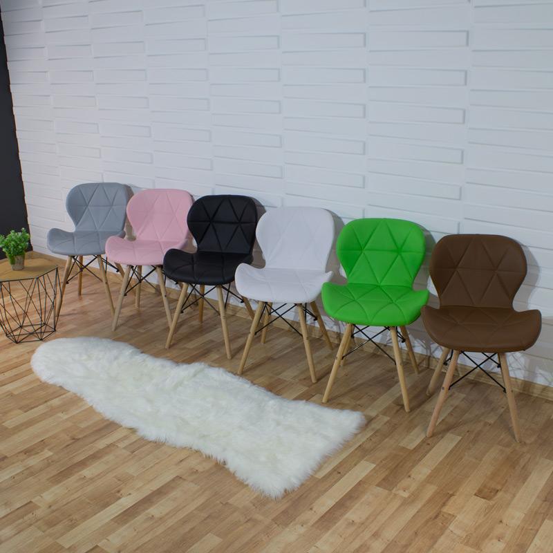 krzesło ekoskóra na bukowych nogach