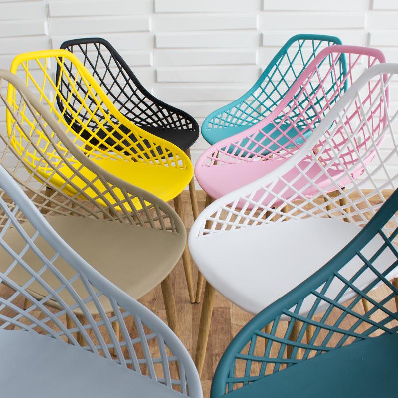 krzesło na metalowych nogach skandynawskie nowoczesne