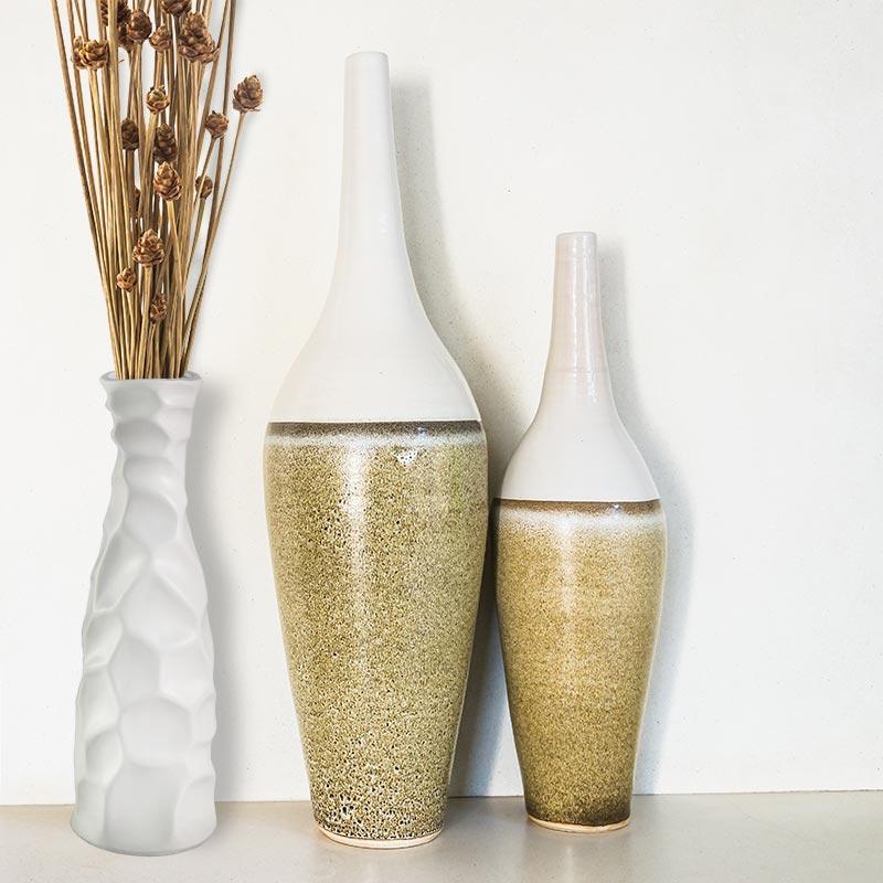 Wazon Ceramiczny Na Kwiaty M 46 Biały Hile