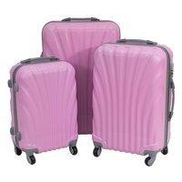200df73c531c7 Komplet walizek podróżnych na kółkach wytrzymałe z rączką ABS 20/24/28  UC03004-