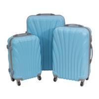 2b3e9ef107d8a Komplet walizek podróżnych z wyciąganą rączką na kółkach ABS 20/24/28  UC03004-