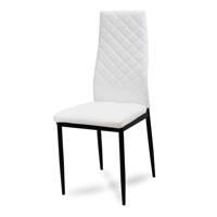Krzesło Skórzane Na Metalowych Nogach 704c Wb Biały Hile