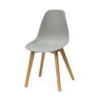 Krzesło Na Drewnianych Nogach 010tz Szary Hile