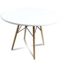6cc34de27af052 Stół okrągły kuchenny klasyczny stylowy do jadalni biały S302-100L