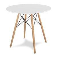 Stół Na Drewnianych Bukowych Nogach S301 Biały Hile