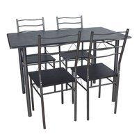 Zestaw Stół Krzesła X001n Brązowy Hile