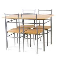 Zestaw Stół Krzesła X008 Jasna Jabłoń Hile