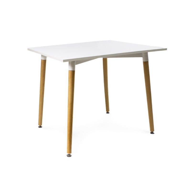 Stol Drewniany Do Kuchni S200p80x80a Bialy Hile