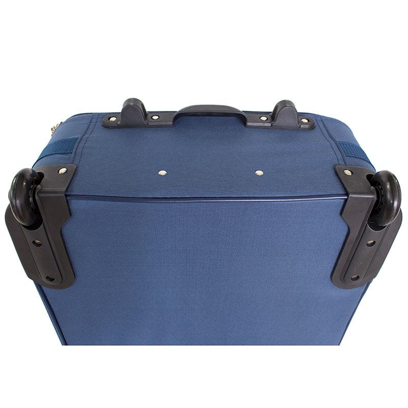3163d89ce1625 ... Duże niebieskie walizki z tworzywa na kółkach do samolotu PVC-02  komplet 19/23 ...