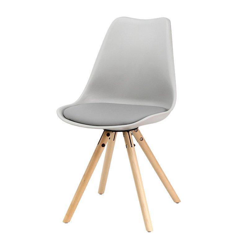 Krzesło Na Drewnianych Nogach 008 Tz Szary Hile