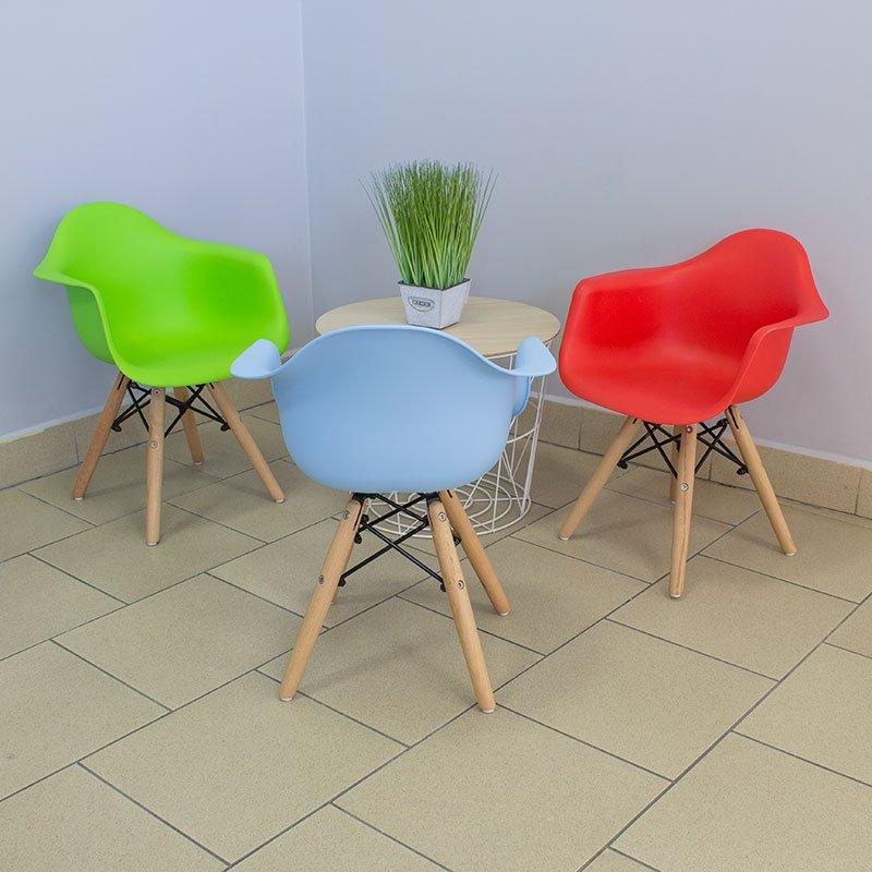 Krzesełko dla dzieci na drewnianych nogach 211 AB Niebieski