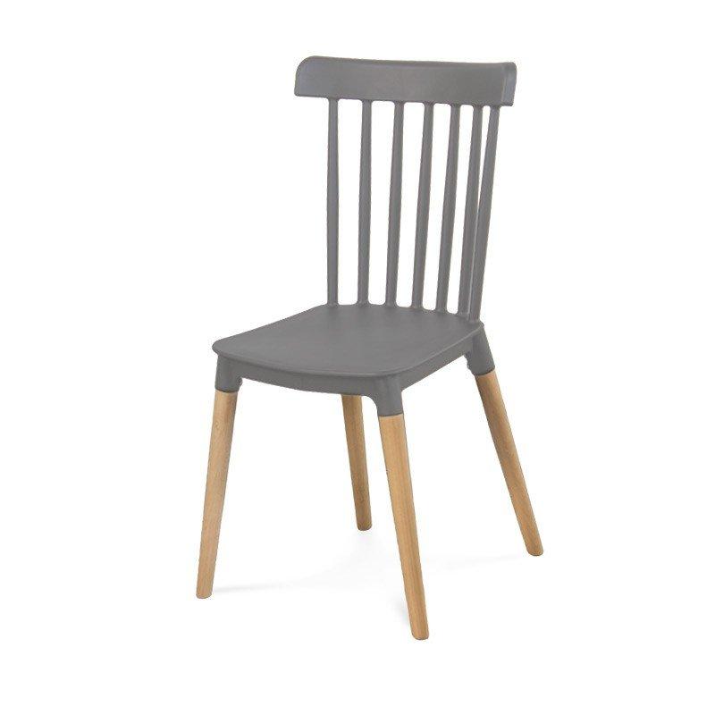 Klasyczne Krzesło Retro 057 Szary Hile