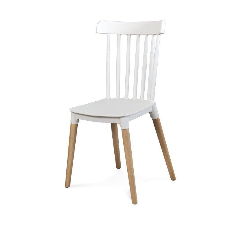 Cudowna Klasyczne krzesło retro 057 Biały - HILE IF48