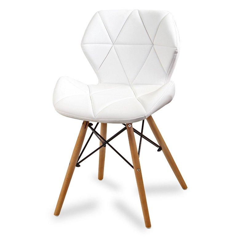Krzesło tapicerowane ekoskóra 024 Biały HILE