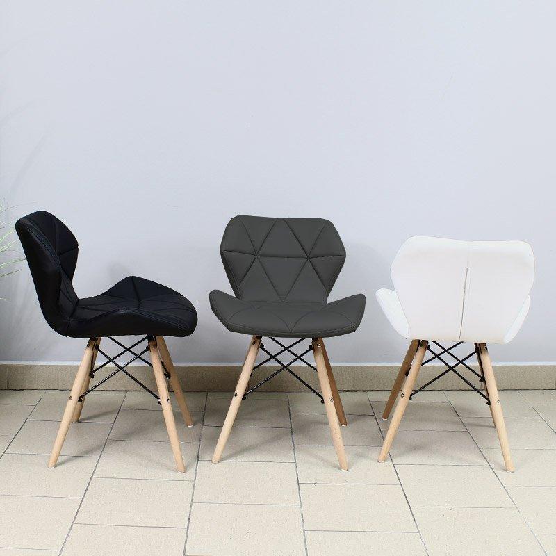 Krzesło Tapicerowane Ekoskóra 024 Czarny Hile