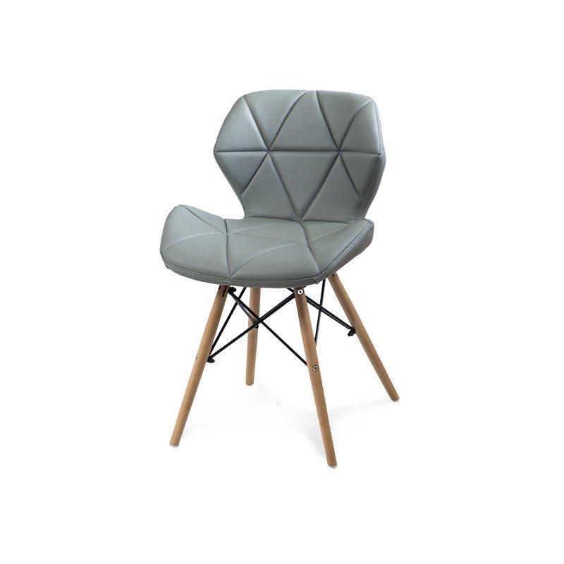 Krzesło Tapicerowane Ekoskóra 024 Szary Hile