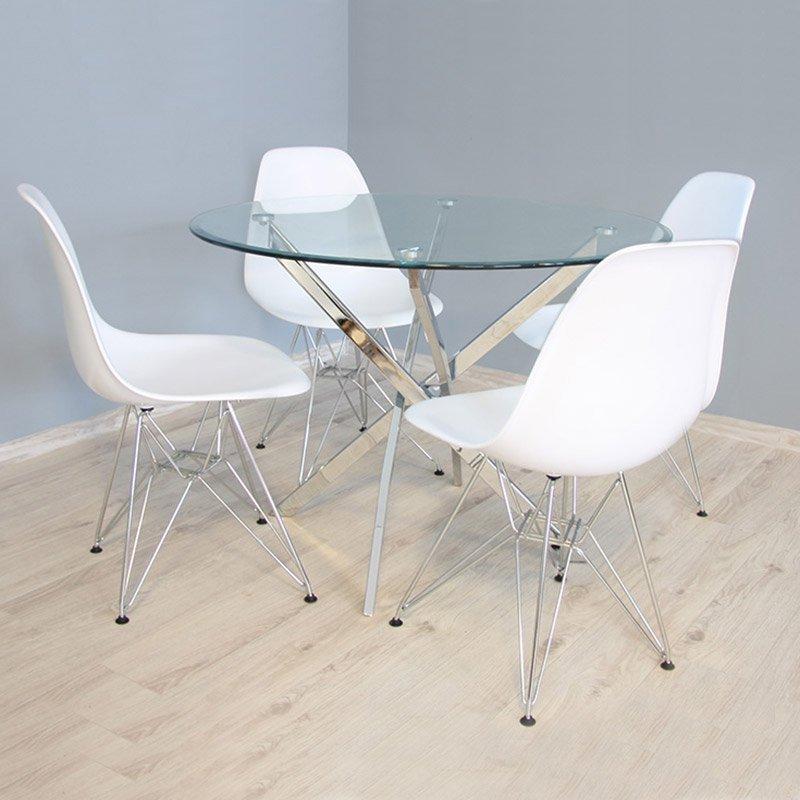 Krzesło Na Metalowych Nogach 212 Ab Biały Hile
