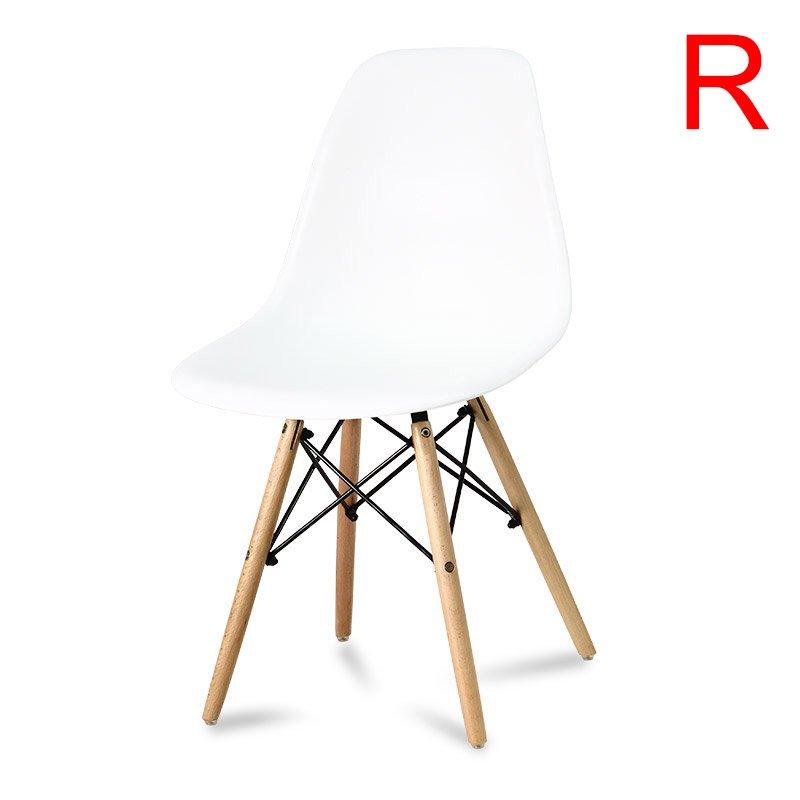 Krzesło na drewnianych nogach 212 WF Biały
