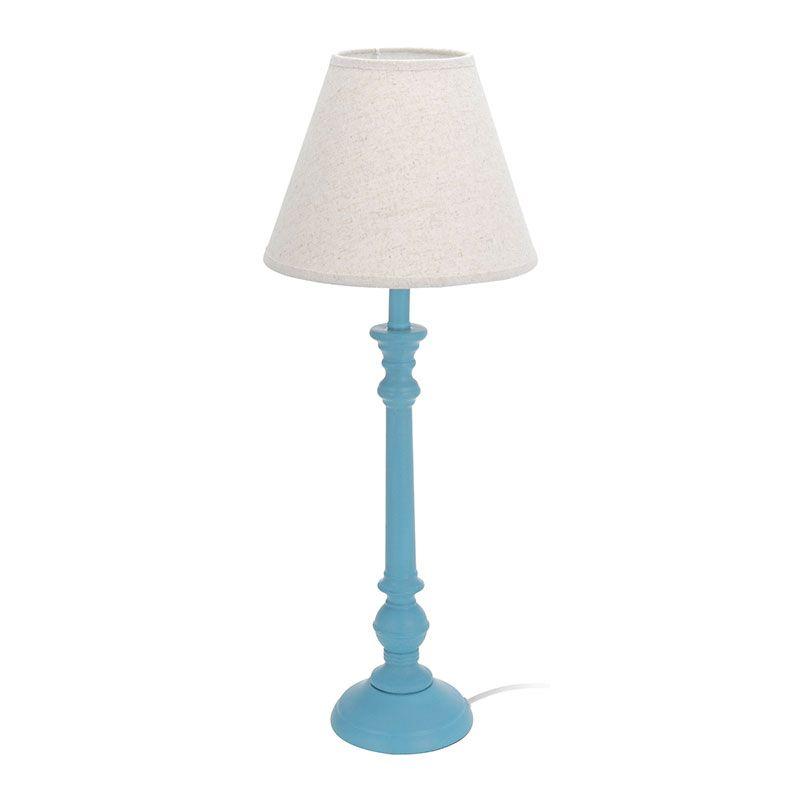 Cudowna Lampa stołowa biurowa nocna turkusowa C45060A - HILE IO69