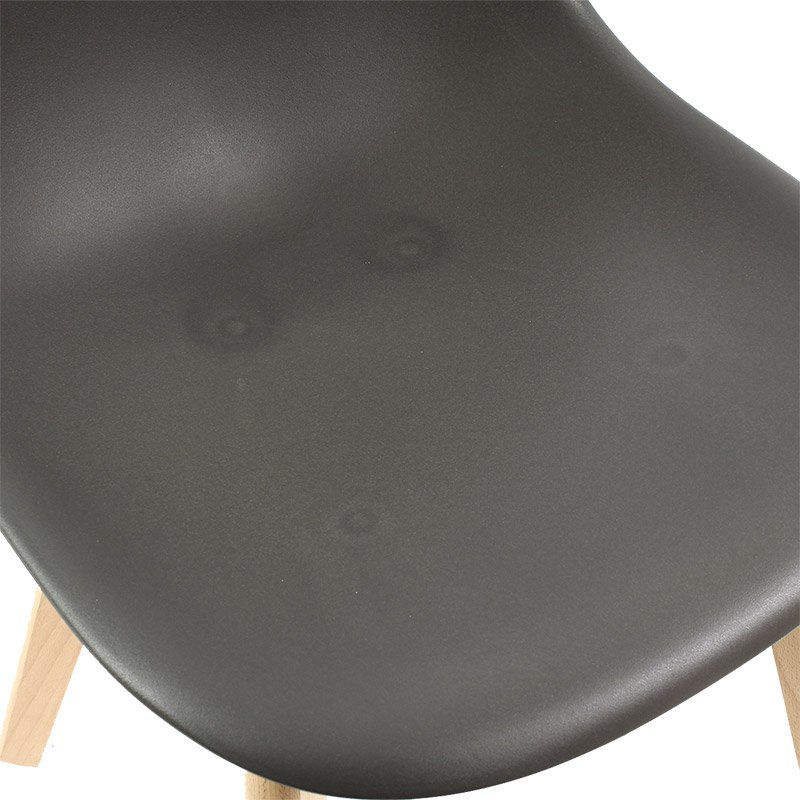 4b91100818c7ed ... Nowoczesne krzesło na drewnianych bukowych nogach stylowe do jadalni  ciemno szare 010 TS + biała nakładka ...