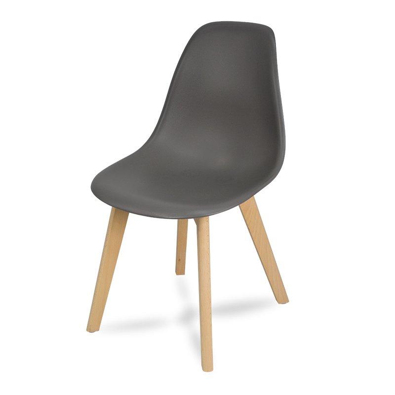 5df707108d9da4 Nowoczesne krzesło na drewnianych bukowych nogach stylowe do jadalni szare  010 TS ...