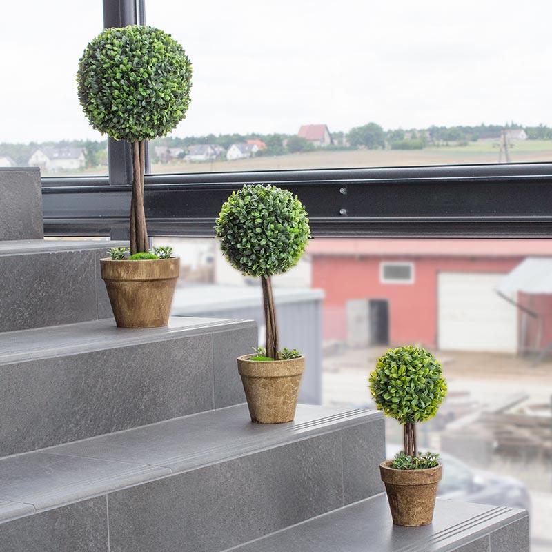 Drzewko Dekoracyjne Bukszpan Uc30504 Zielony Hile