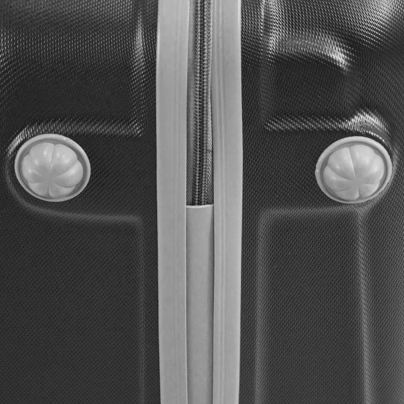 c33bd037dd8c2 ... Walizki podróżne Lot Wizzair ABS komplet 20/24/28 czarna UC03001-02 +  ...