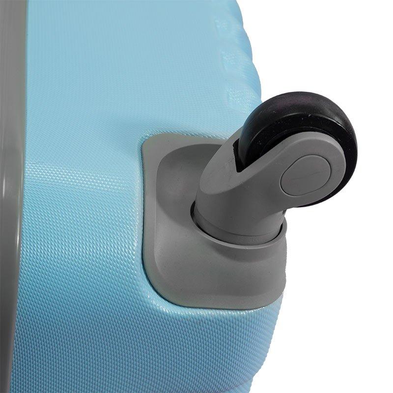 3638b4fb135ab Komplet walizek podróżnych z wyciąganą rączką na kółkach ABS 20/24/28  UC03004- ...