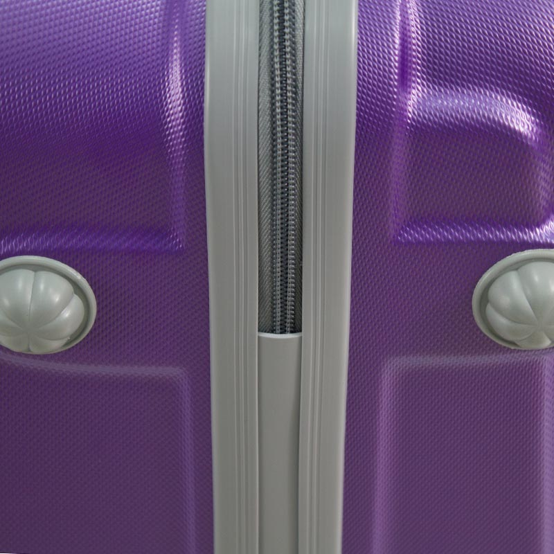 8f0940c5a9655 ... Walizki podróżne Lot Wizzair ABS komplet 20/24/28 fioletowe UC03001-05  + ...