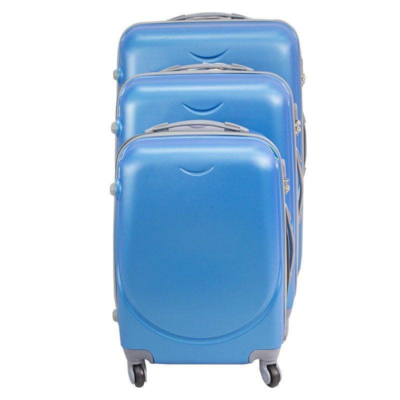 82da0e7ed13c3 ... Walizki podróżne Lot Wizzair ABS komplet 20/24/28 niebieskie UC03001-04  + ...