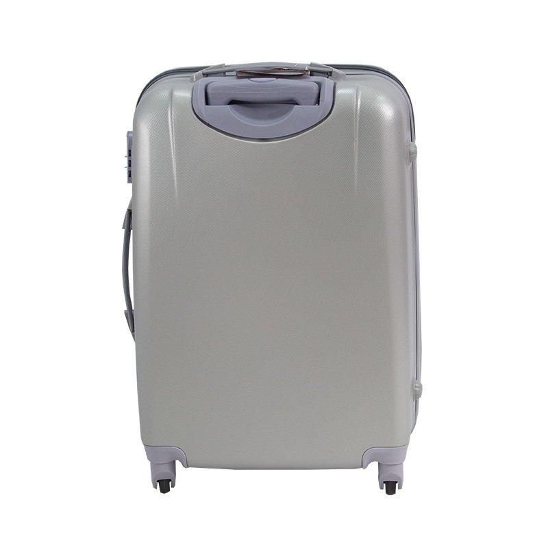 30fdfab89973f ... Walizki podróżne Lot Wizzair ABS komplet 20/24/28 srebrne UC03001-06 +  ...