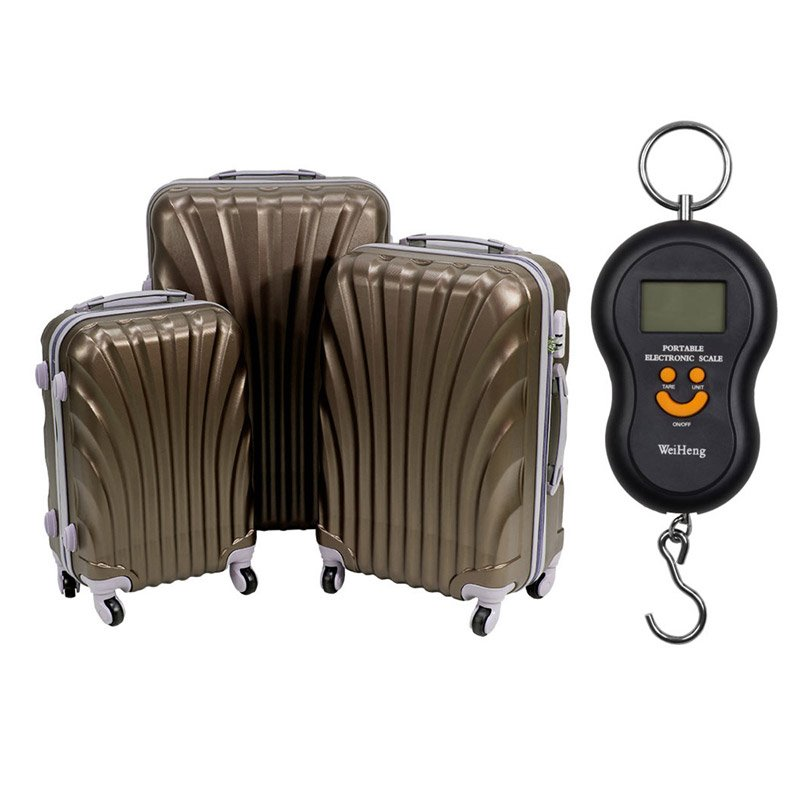 19de56aab01f3 ... Komplet walizek podróżnych na kółkach 20 24 28 UC03004-04 + waga  bagażowa ...