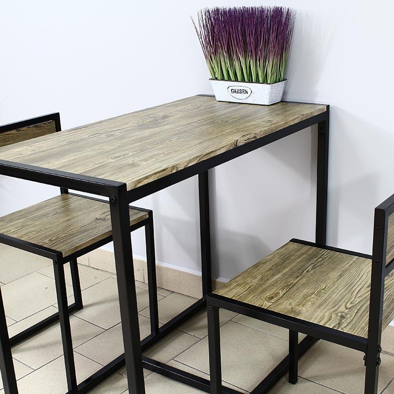Zestaw Stół 2 Krzesła X072 Oliwkowy Brąz Hile