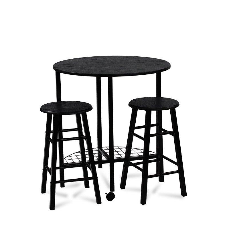 Zestaw Stół Krzesła X047 Czarny Hile