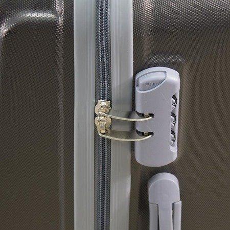dd816a2168127 ... Walizki podróżne Lot Wizzair ABS komplet 20/24/28 grafitowe UC03001-08  + ...